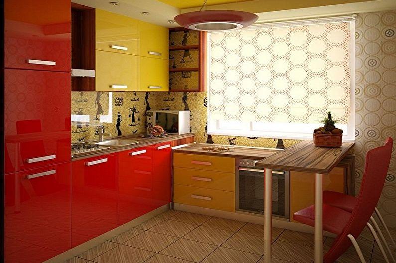 С какими цветами сочетается красный - Дизайн кухни