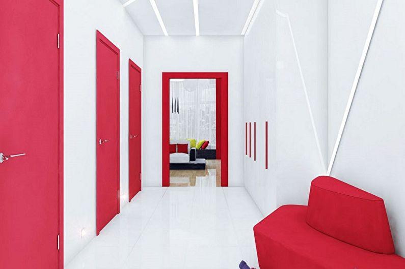 С какими цветами сочетается красный - Дизайн прихожей