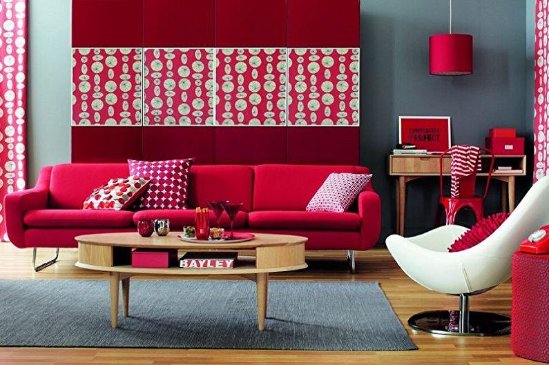 С какими цветами сочетается красный - фото
