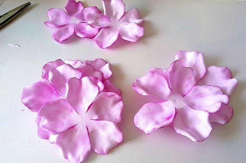 Роза из фоамирана своими руками - Простой способ изготовления бутонной розы