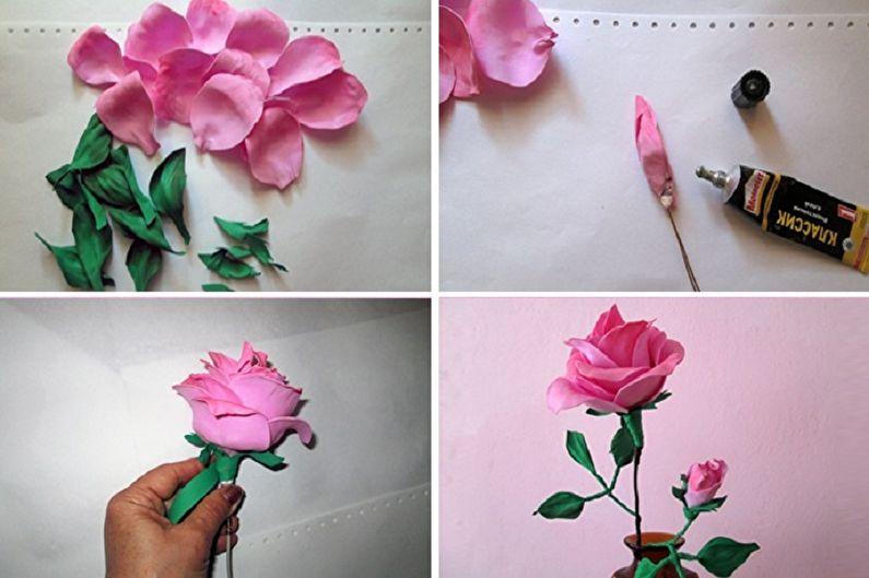 Роза из фоамирана своими руками - Роза из отдельных лепестков