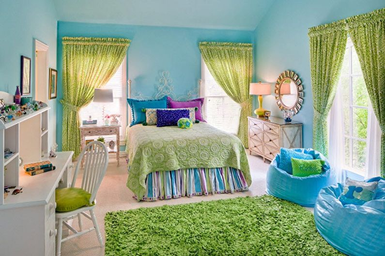 Зеленый с синим - С какими цветами сочетается синий