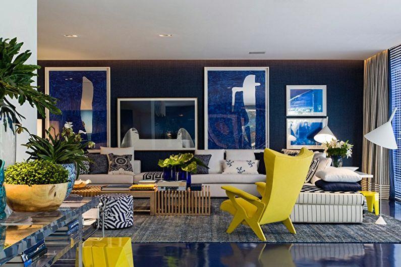 Желтый с синим - С какими цветами сочетается синий