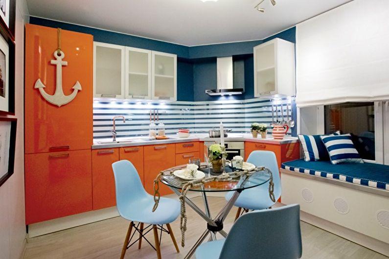 Оранжевый с синим - С какими цветами сочетается синий