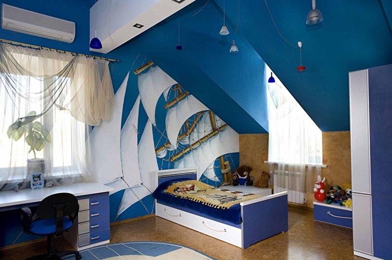 С какими цветами сочетается синий - Дизайн детской комнаты