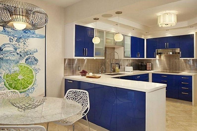 С какими цветами сочетается синий - Дизайн кухни