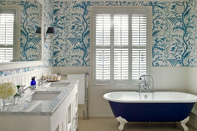 С какими цветами сочетается синий - Дизайн ванной комнаты