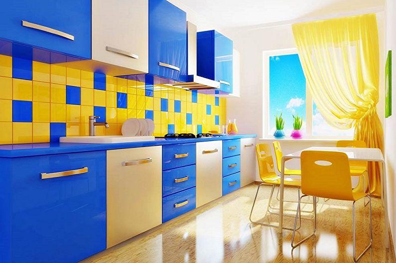 С какими цветами сочетается синий - фото