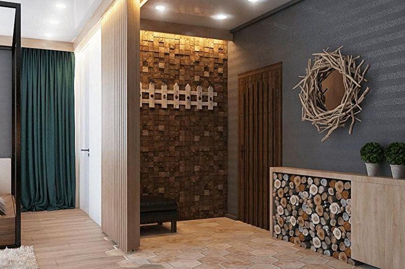 Дизайн коридора в эко-стиле