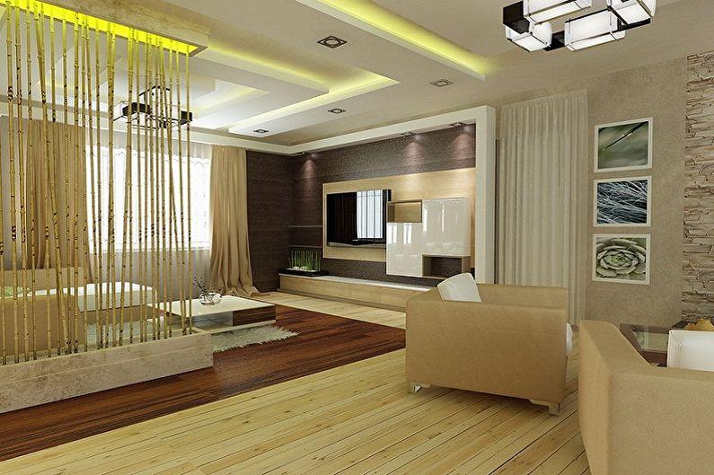 Дизайн зала в квартире - Зонирование