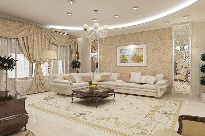 Дизайн зала в квартире - Материалы для отделки