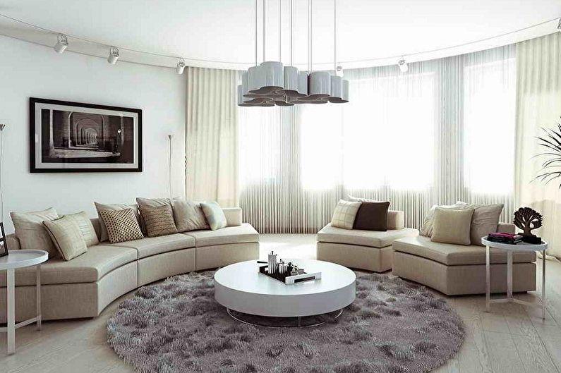 Дизайн зала в квартире - Цветовые решения