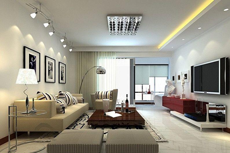 Дизайн зала в квартире - Мебель и освещение