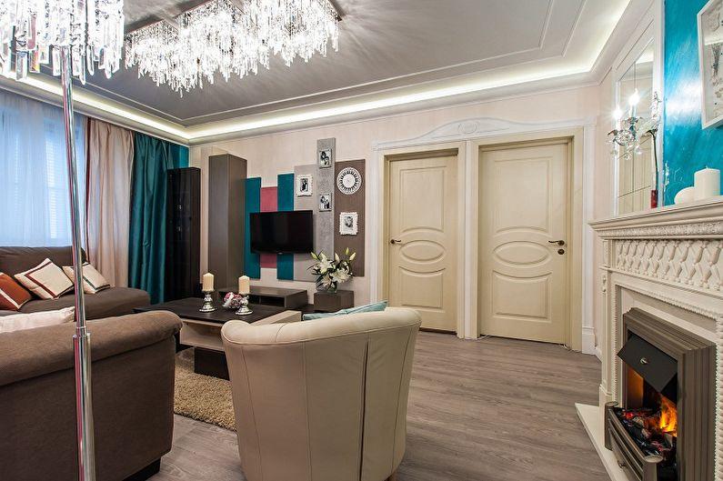 Дизайн зала в квартире - Проходной зал