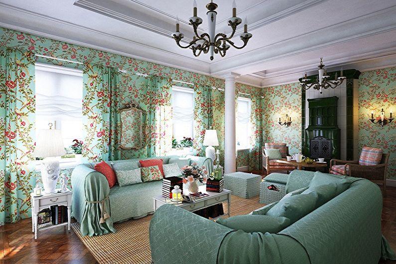 Дизайн зала в стиле прованс
