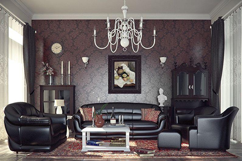 Дизайн зала в стиле ретро