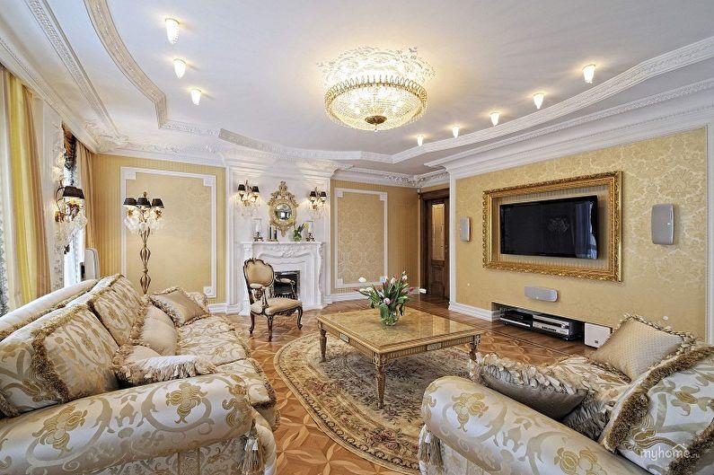 Дизайн интерьера зала в квартире - фото
