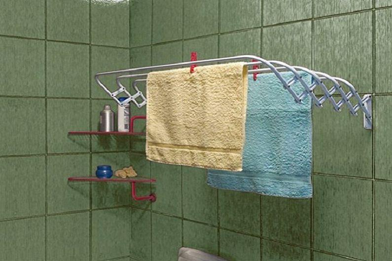Виды настенных сушилок для белья - Раздвижная сушилка