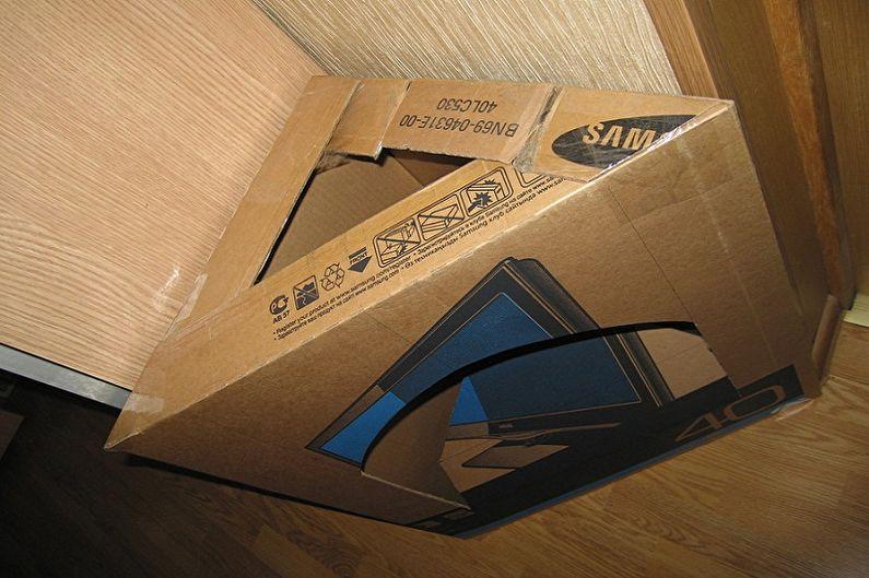 Изготовление каркаса фальшкамина своими руками - Из большого упаковочного короба