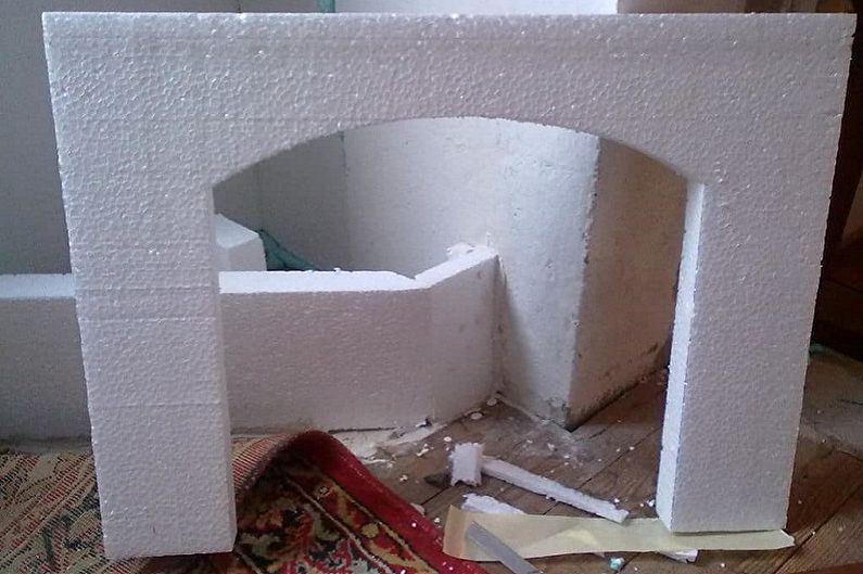 Изготовление каркаса фальшкамина своими руками - Фальшкамин из пенопласта