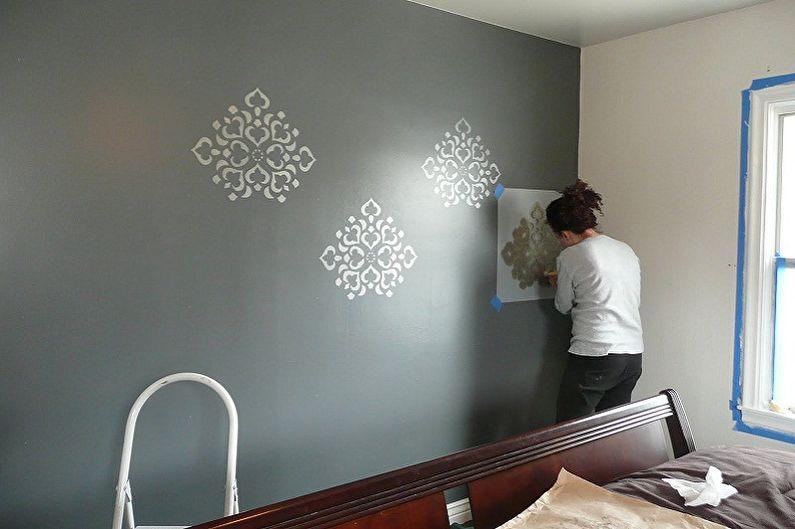 Трафареты для стен под покраску - Как работать с трафаретом