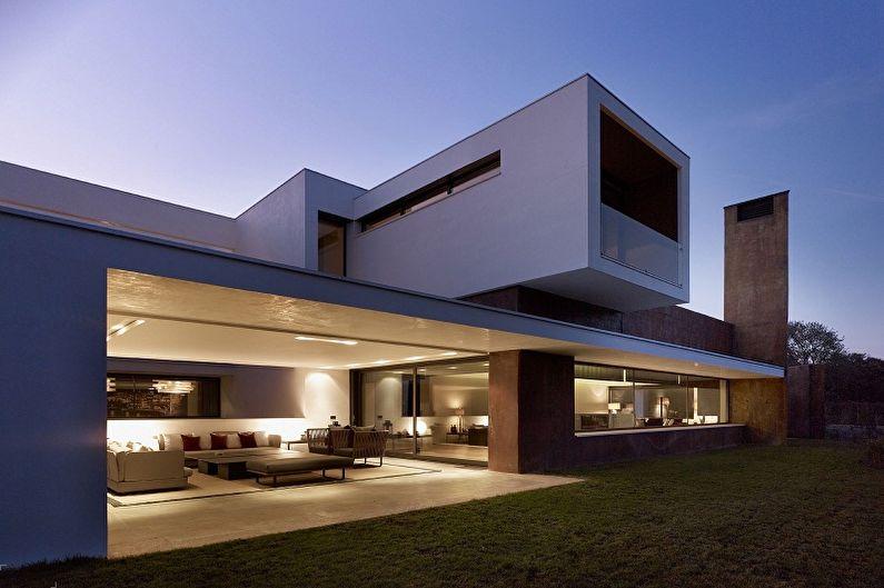 Дома в стиле хай-тек (90 фото): красивые проекты и идеи дизайна