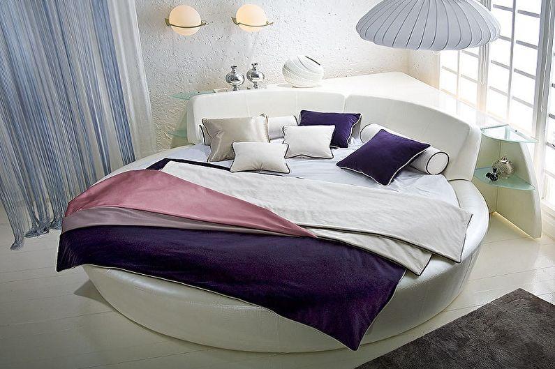 Круглая кровать в спальне: 80 фото и идей