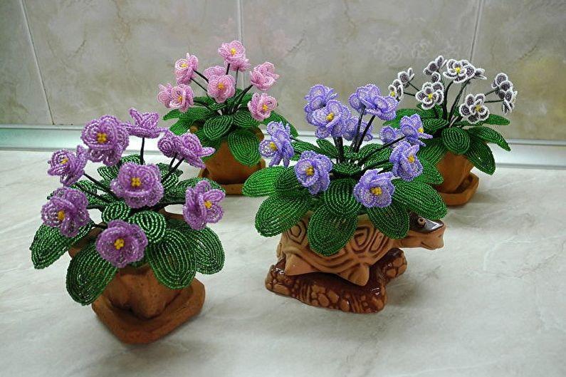 Цветы фиалки своими руками фото 31