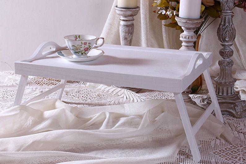 Столик для завтрака в постель (90 фото): виды и модели