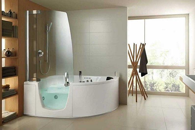 Стеклянные шторки для ванной (50 фото)