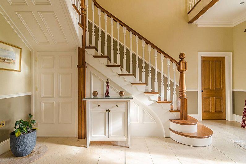 Перила для лестницы: 90 фото и идей
