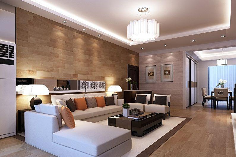 Дизайн зала в квартире - 80 фото интерьеров, идеи для ремонта