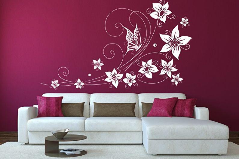 Трафареты для стен под покраску: 60 фото и идей