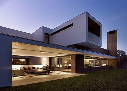 Дома в стиле хай-тек (90 фото): проекты и идеи