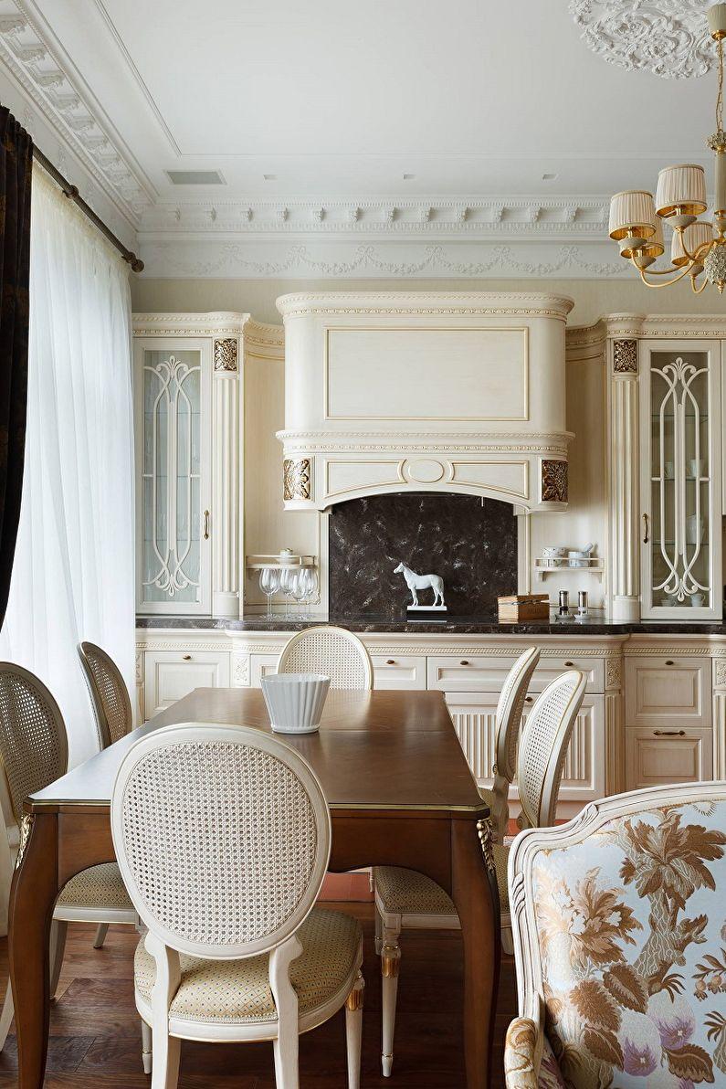 Кухня 13 кв.м. в классическом стиле - Дизайн интерьера