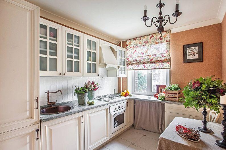 Кухня 13 кв.м. в стиле кантри - Дизайн интерьера