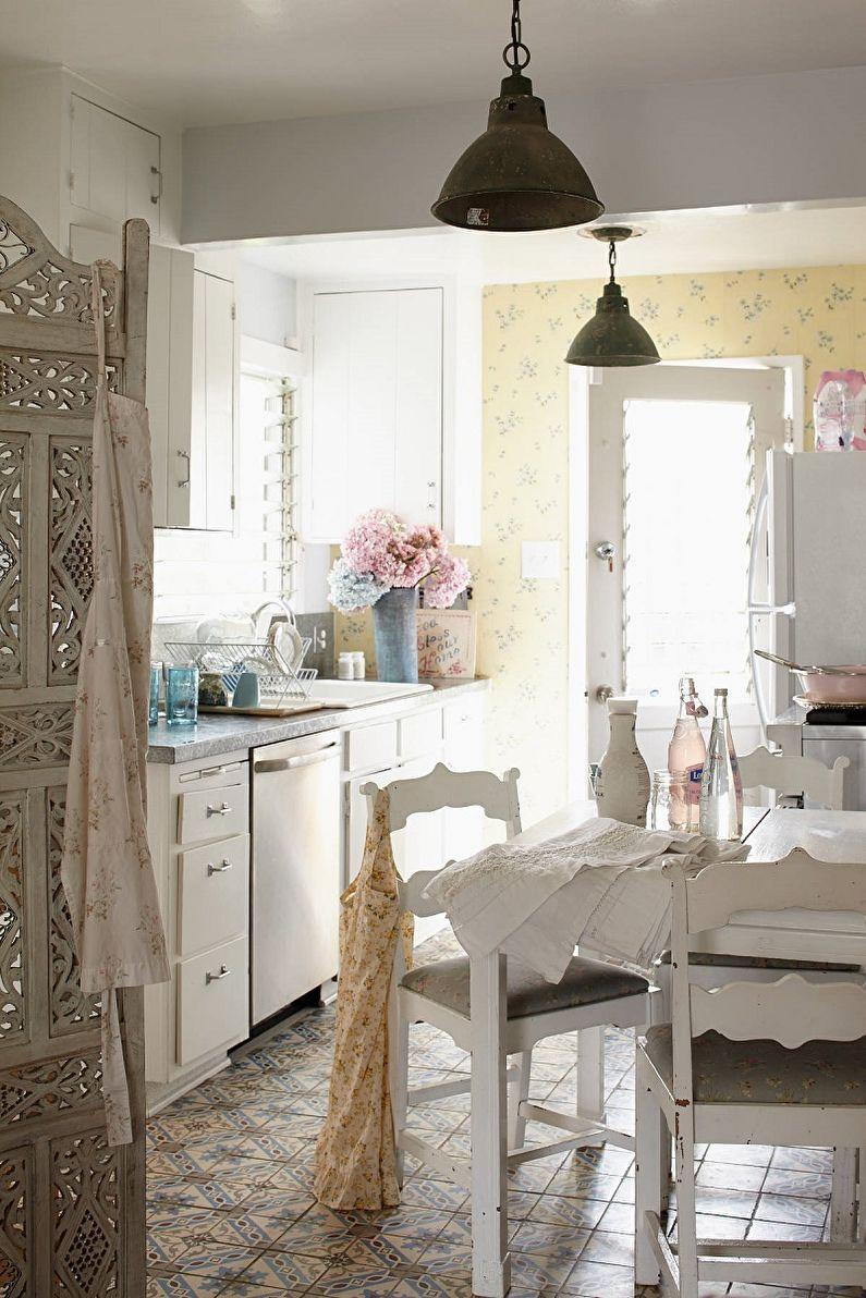 Кухня 13 кв.м. в стиле шебби-шик - Дизайн интерьера