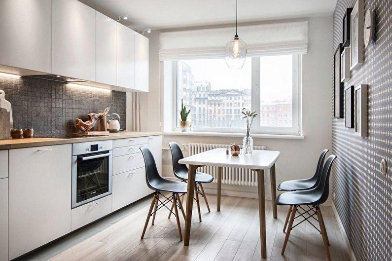 Белая кухня 13 кв.м. - Дизайн интерьера