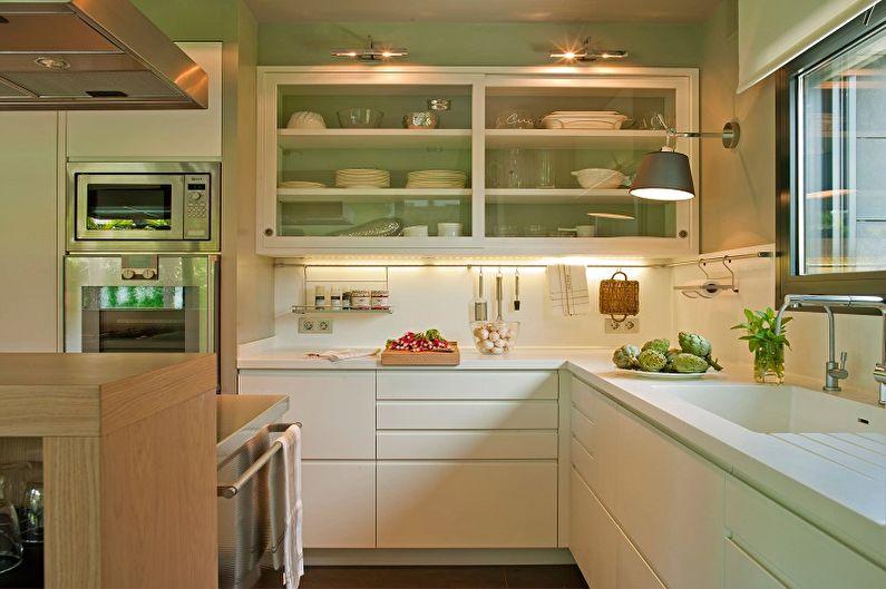 Зеленая кухня 13 кв.м. - Дизайн интерьера