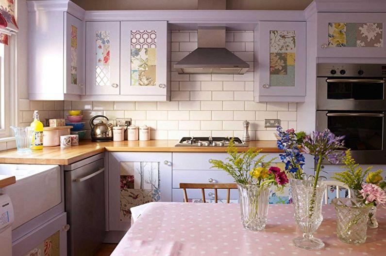 Фиолетовая кухня 13 кв.м. - Дизайн интерьера