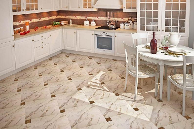 Дизайн кухни 13 кв.м. - Отделка пола