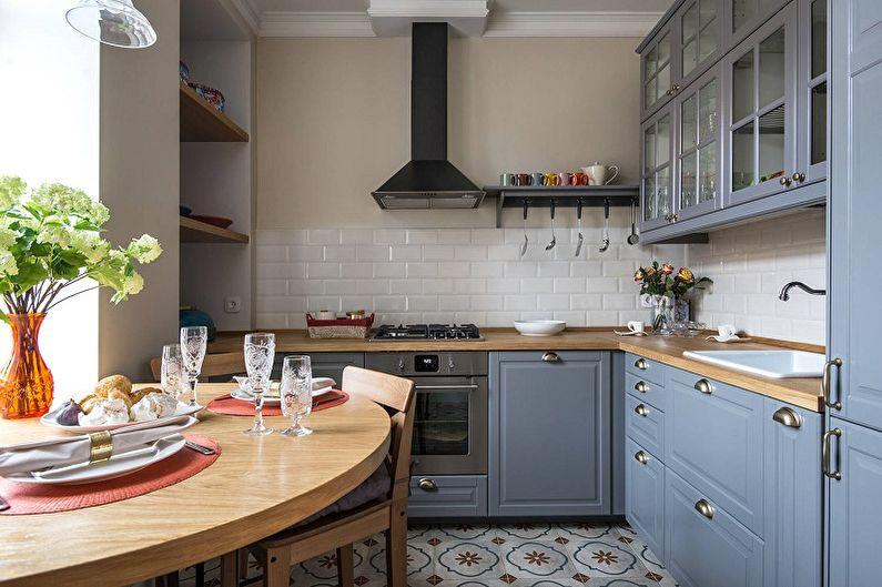 Дизайн кухни 13 кв.м. - Отделка стен