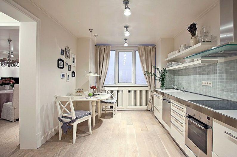 Дизайн кухни 13 кв.м. - Отделка потолка