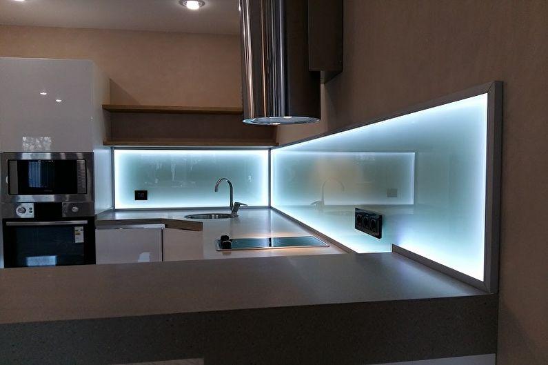 Дизайн кухни 13 кв.м. - Освещение