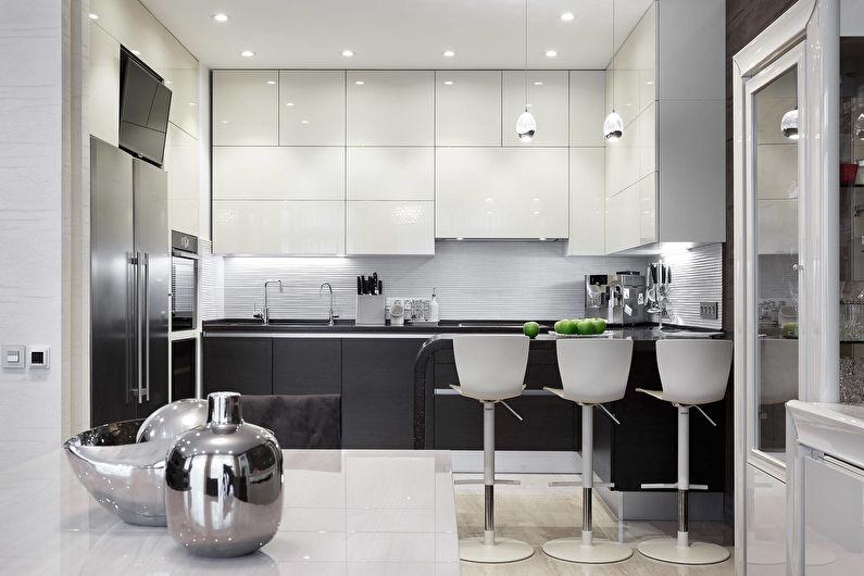Кухня 11 кв.м. в современном стиле - Дизайн интерьера