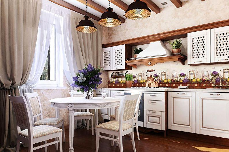 Кухня 11 кв.м. в стиле прованс - Дизайн интерьера