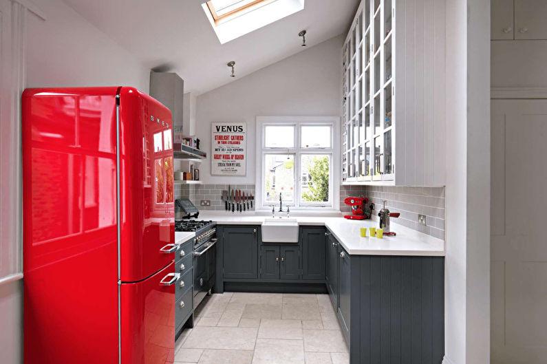 Кухня 11 кв.м. в ретро стиле - Дизайн интерьера