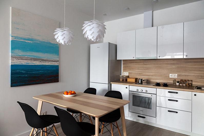 Кухня 11 кв.м. в эко-стиле - Дизайн интерьера
