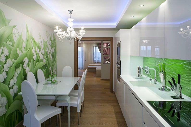 Зеленая кухня 11 кв.м. - Дизайн интерьера