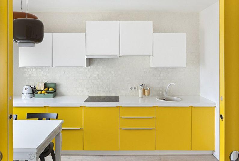 Желтая кухня 11 кв.м. - Дизайн интерьера
